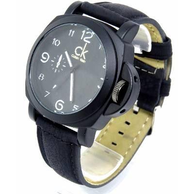 74ce589e967 Relógio Masculino Ck Calvin Klein Pulseira Couro Canvas Preto ...
